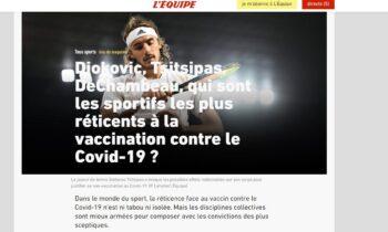 Τσιτσιπάς δημοσίευμα L'Equipe
