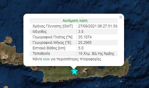 Μετασεισμός στην Κρήτη