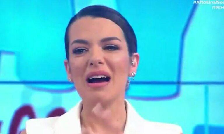 Νικολέττα Ράλλη: Πλάνταξε στο κλάμα στην πρεμιέρα της εκπομπή της! (vid)