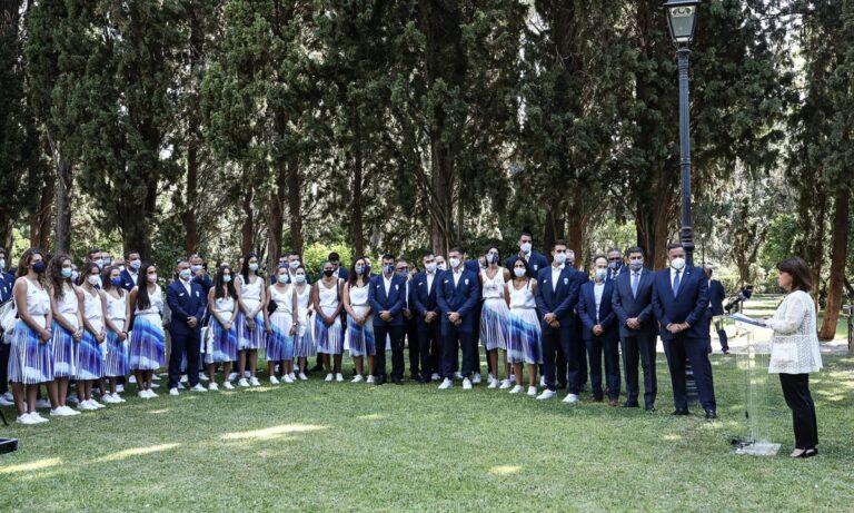 Ολυμπιακοί Αγώνες: Στο Προεδρικό Μέγαρο οι Έλληνες αθλητές και προπονητές