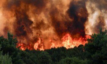 Φωτιά στο Ρέθυμνο: Συναγερμός στο χωριό Μαριλού - Μάχη με τις φλόγες από την Πυροσβεστική