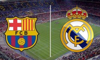 Μπαρτσελόνα - Ρεάλ Μαδρίτης LIVE: Παρακολουθήστε την εξέλιξη της αναμέτρησης της La Liga από τα online στατιστικά του Sportime.