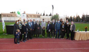 Σε μια όμορφη και λιτή εκδήλωση που πραγματοποιήθηκε την Τετάρτη στο στάδιο Ζηρίνειο, ο Γ.Σ. Κηφισιάς τίμησε τον ολυμπιονίκη Μίλτο Τεντόγλου.