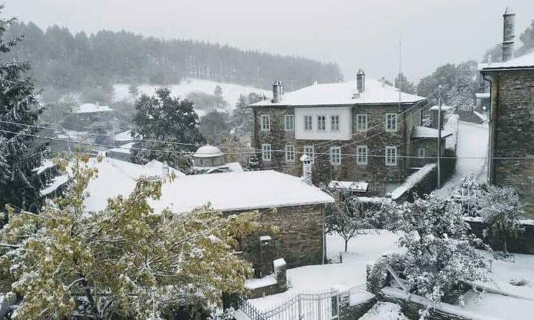 Καιρός: Ήρθε για τα καλά ο χειμώνας – Χιόνισε στη Φλώρινα!