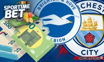 Μπράιτον - Μάντσεστερ Σίτι σήμερα και το Sportime στηρίζει τα παιδιά του Πεπ!