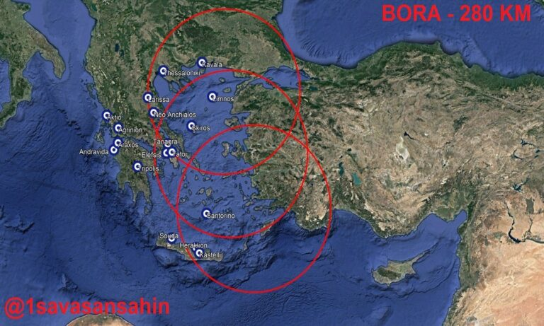 Τούρκοι: 19 βάσεις εκτός τις εμβέλειας των Bora – Mην πάρουν τον αέρα χαθήκαμε