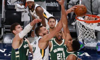 NBA: Δεν τα κατάφεραν στη Γιούτα οι Μπάκς του Αντετοκούνμπο (vid)