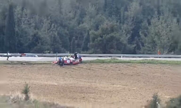 Ελασσόνα: Αγωνιστικό αυτοκίνητο αναποδογύρισε με μεγάλη ταχύτητα – Συγκλονιστικό video!