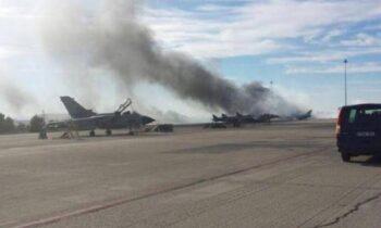 Φωτιά στο αεροδρόμιο Αράξου - Συναγερμός για αποθήκη πυρομαχικών δίπλα στο σημείο