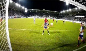Απίστευτο αυτογκόλ στη Γερμανία και συγκεκριμένα στο ματς Άουε - Αμβούργο