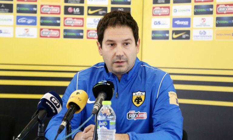 Γιαννίκης: «Ξέρω που ήρθα – Η ΑΕΚ έχει παίκτες με φανταστική ποιότητα»