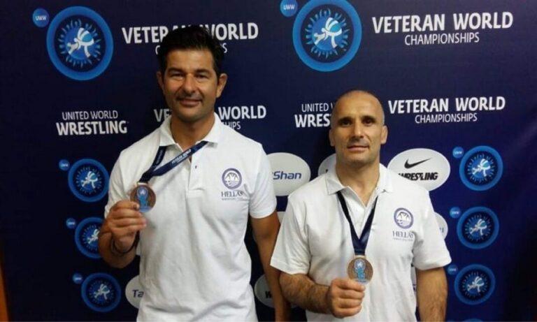 Παγκόσμιο Πρωτάθλημα Βετεράνων Πάλης: Διπλός θρίαμβος με Μπούκη και Μπατάλα!