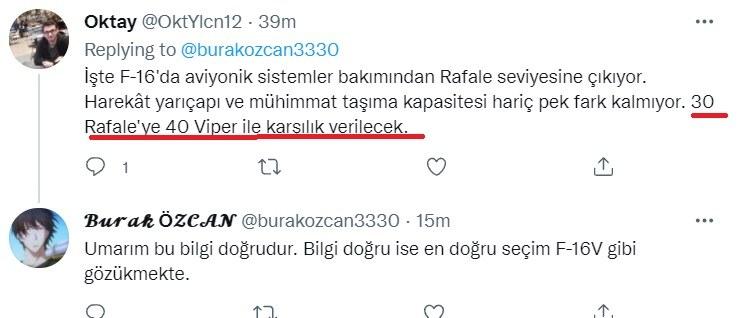 Rafale: Με 40 Viper ρίχνουμε 30 ελληνικά λένε οι Τούρκοι