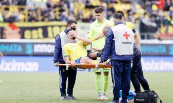 Παναιτωλικός: Ο Ιβαν Βαρόνε αποχώρησε τραυματίας από το «Βικελίδης»