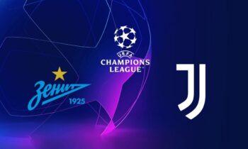 Το LIVE της αναμέτρησης Ζενίτ - Γιουβέντους για το Champions League